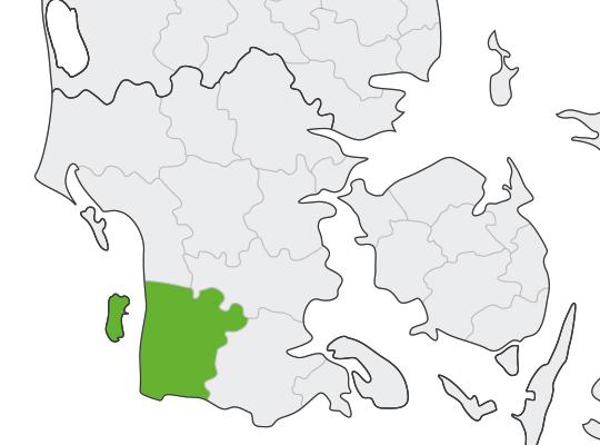 Tønder i Syddanmark er samlet blevet nr. 8